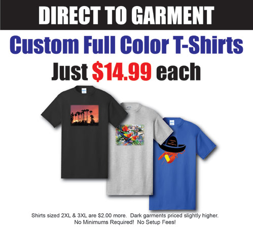 Direct To Garment Printing Pricing